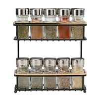 Macbeth Collection 2 Tier Slim Line Spice Rack in Rose Gold