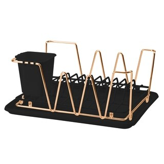 Macbeth Collection Compact Dish Rack Set in Rose Gold - Pink