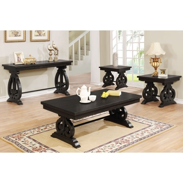 Cappuccino Coffee Table Set.Shop Best Quality Furniture Rustic Cappuccino 4 Piece Coffee