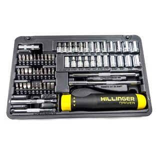 AllTrade 64pc Hillinger Screwdriver Bit and Ratchet Set