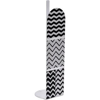 Evideco Zigzag Bathroom Freestanding Toilet Tissue Paper Roll Holder Reserve 4 Rolls