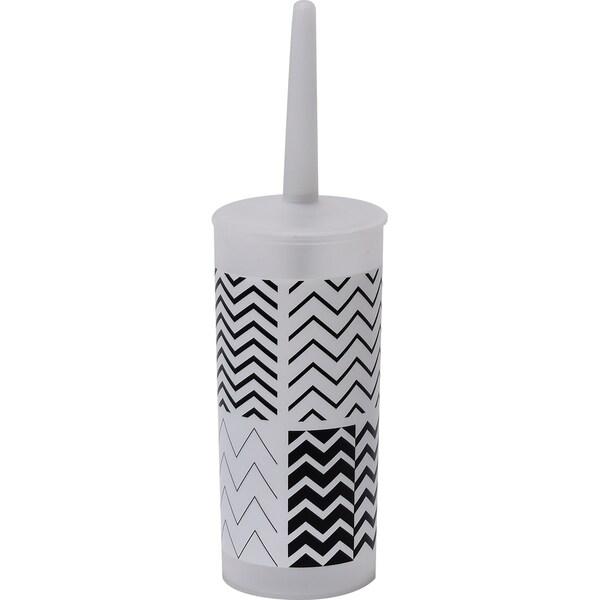 Evideco Bathroom Zigzag Toilet Bowl Brush Holder