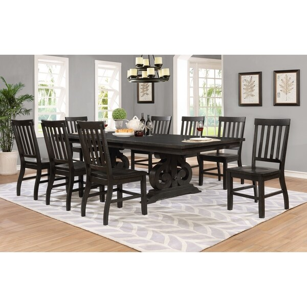 Best Quality Dining Room Furniture: Shop Best Quality Furniture 9-Piece Rustic Cappuccino