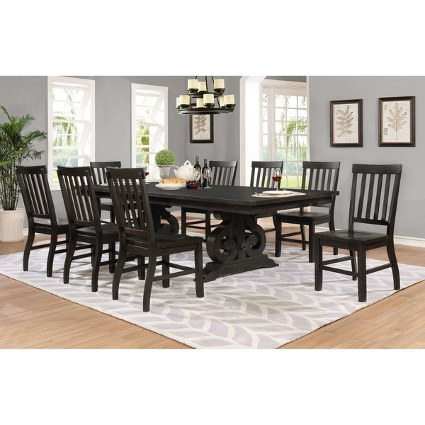 Shop Best Quality Furniture 9-Piece Rustic Cappuccino