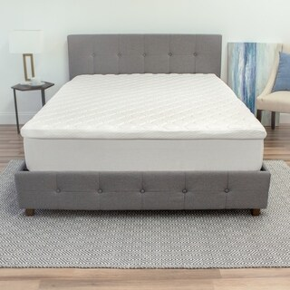SwissLux 3.5-inch Hybrid Micro Coil and Memory Foam Mattress Topper