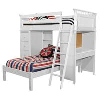 Bolton Sleep Study Storage Loft Bed, White