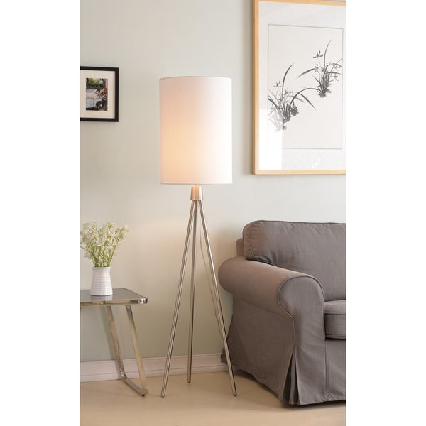 "Hugo 61"" Floor Lamp - Brushed Steel"