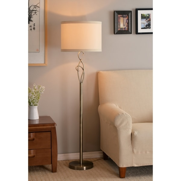 "Design Craft Wisp 59"" Floor Lamp - Antique Brass"