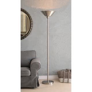 Modern floor lamps for less overstock design craft zane 7213 floor lamp brushed steel mozeypictures Gallery