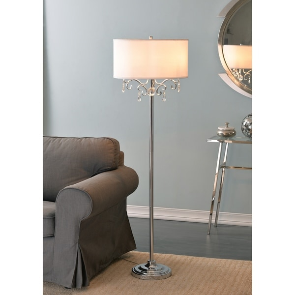 """Design Craft Vivianna 59.5"""" Floor Lamp - Chrome with Crystal Accents"""