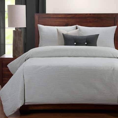 Siscovers Everlast Stripe Juniper 6 Piece Stain Resistant Luxury Duvet Set