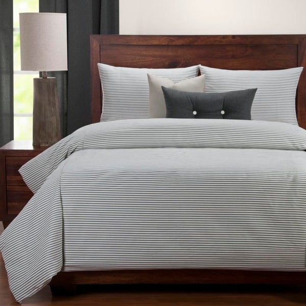 Siscovers Everlast Stripe Juniper 6 Piece Stain Resistant Luxury Duvet Set