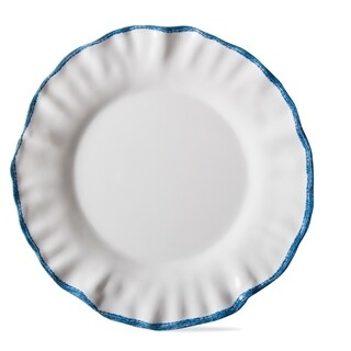 TAG Ruffle Rim Melamine Dinner Plate Set Of 4 White