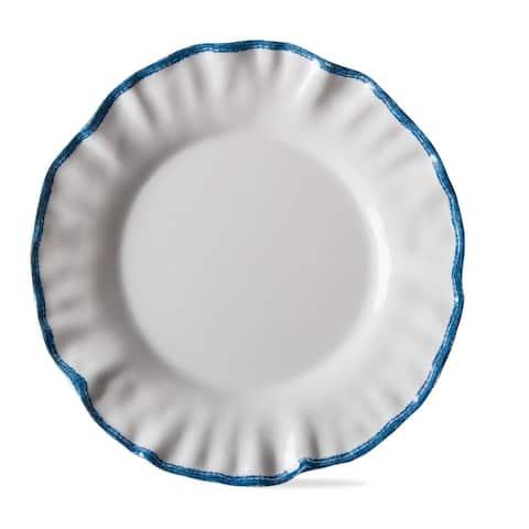 TAG Ruffle Rim Melamine Salad Plate Set Of 4 White
