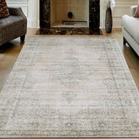 "Corina Farm House Vintage Bone Oriental Area Rug by Admire Home Living - 5'3"" x 7'3"""