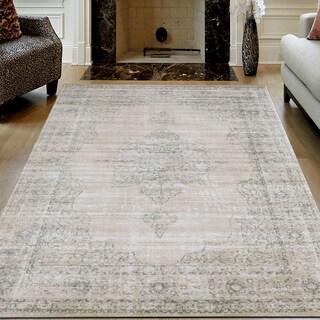 "Corina Farm House Vintage Bone Oriental Area Rug by Admire Home Living - 5'3"" x 7'3"""