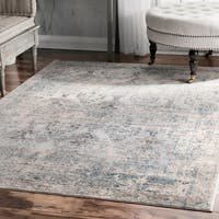 "nuLOOM Fancy Antique Ambiance Ornamental Light Blue Area Rug (7'10'' x 10'10'') - 7'10"" x 10'10"""