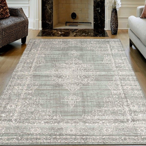 Admire Home Living Corina Traditional Oriental Vintage Medallion Pattern Area Rug. Opens flyout.