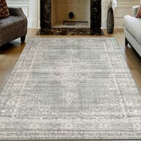 Corina Farm House Vintage Green Oriental Area Rug by Admire Home Living