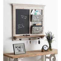 Kate and Laurel Idamae Framed Chalkboard, White