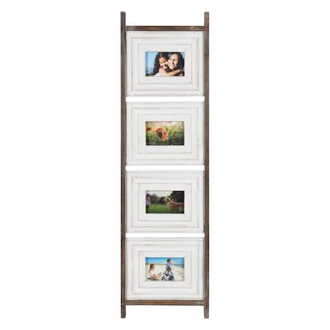 "Trescoe Wood Photo Collage 4x6"", Rustic Brown"