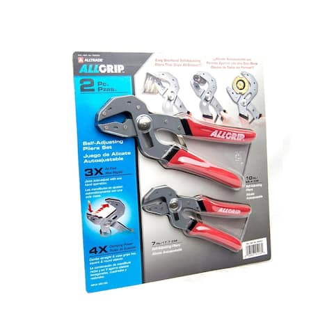 AllGrip 482180 2-pc Adjustable Pliers Set
