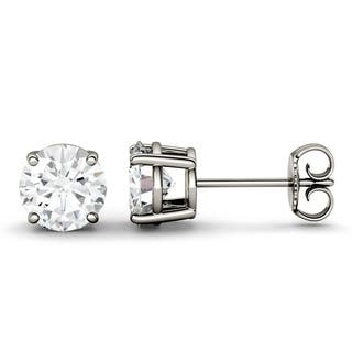 Twobirch 14k White Gold Brilliant Moissanite Studs 4 5 Mm 0 58 Ct Twt 66
