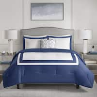 510 Design Hanson Navy 4-piece Comforter Set