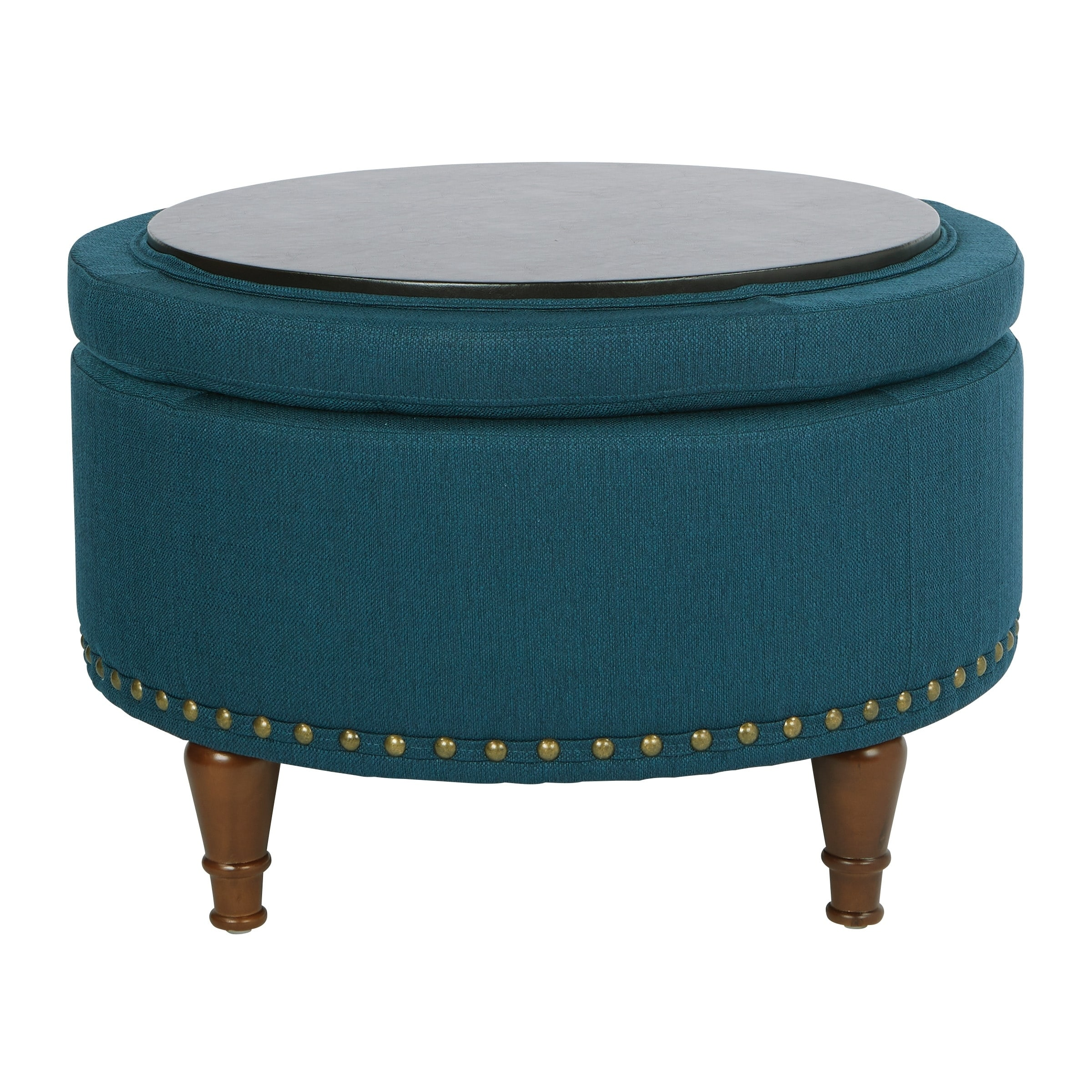 Groovy Osp Home Furnishings Fabric Alloway Storage Ottoman With Bronze Nailheads Theyellowbook Wood Chair Design Ideas Theyellowbookinfo