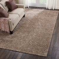 Nourison Modern Deco Hand Tufted Taupe Area Rug - 8' x 10'6
