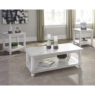 Cloudhurst White Contemporary 3-Piece Table Set