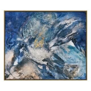 Renwil Ultramarine Rectangular Canvas Painting
