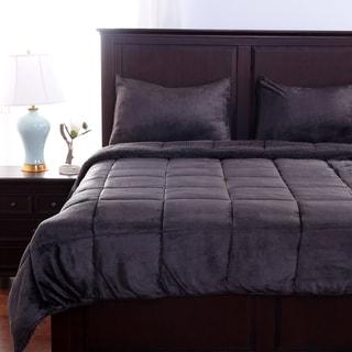 Berkshire Blanket VelvetLoft 3-piece Comforter Set with Fluffy Sherpa Reverse