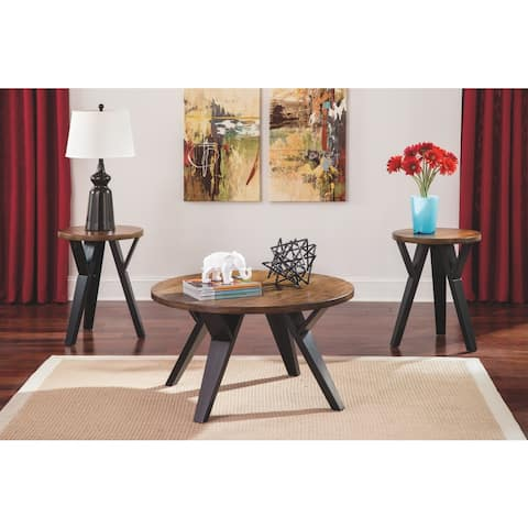 Ingel Contemporary Two-Tone 3-Piece Table Set