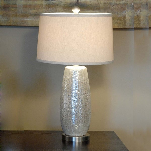 Melrose Rouen Silver 29.25-inch Table Lamp