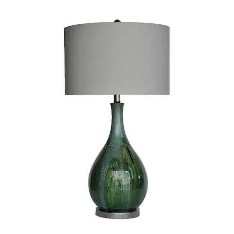 Sea Scape Taupe 30-inch Table Lamp