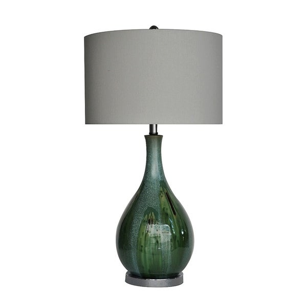 Sea Scape Taupe 30-inch Table Lamp. Opens flyout.