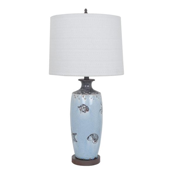Coastal Marine Soft Blue 31-ịnch Table Lamp