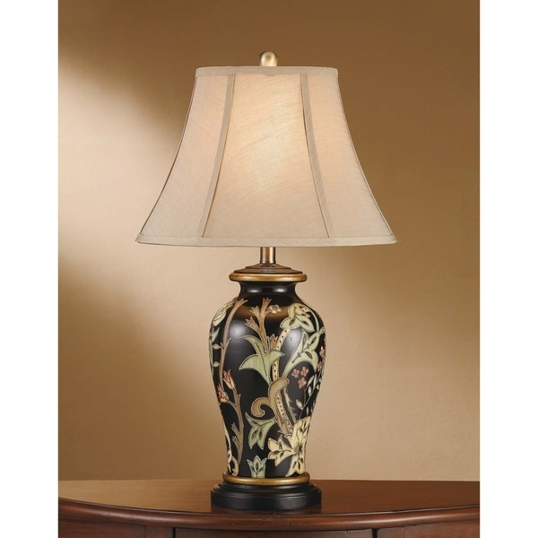 Windham Black and Green 29.25-inch Table Lamp