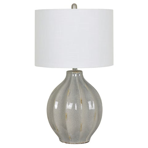 Perry Grey 28-inch Ceramic Table Lamp