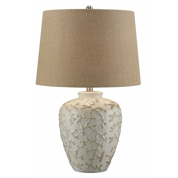 Sand Coral Off White 26-inch Table Lamp