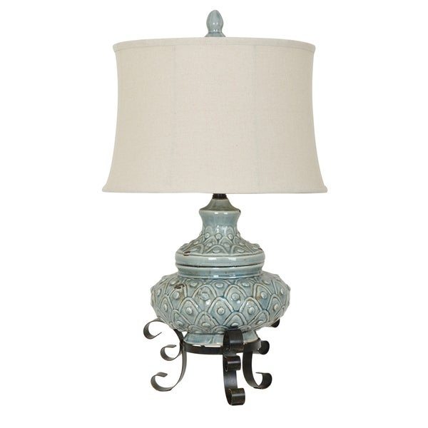 Alden Antique Blue 29.5-inch Table Lamp