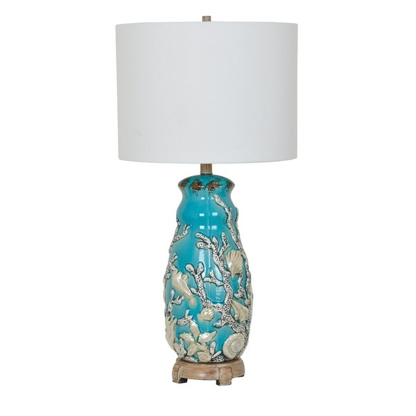 Reef Turk and Coral 31-inch Table Lamp