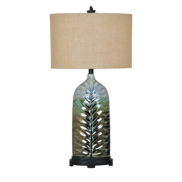 Rim Blue and Green 32-inch Table Lamp