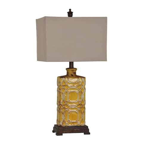 Chatham Antique Yellow 28.5-inch Table Lamp