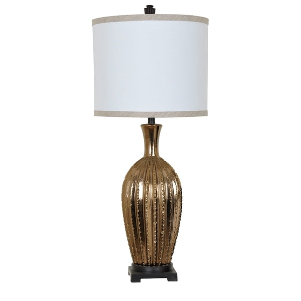 Moment Toasted Gold and Black 38-inch Table Lamp