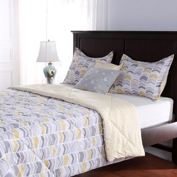 Modern Chevron 5-Piece Comforter Set