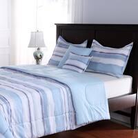 Watercolor Stripe 5-piece Comforter Set