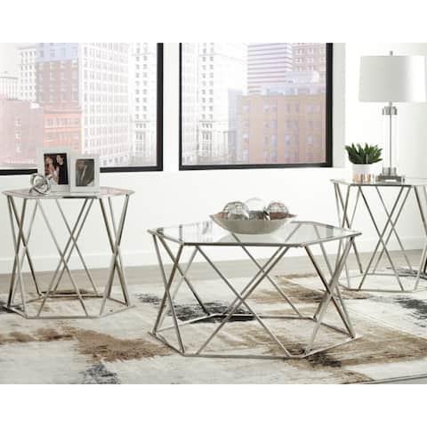 Madanere Contemporary 3-Piece Table Set