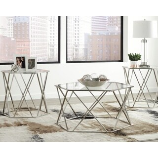 Madanere Contemporary 3-Piece Table Set